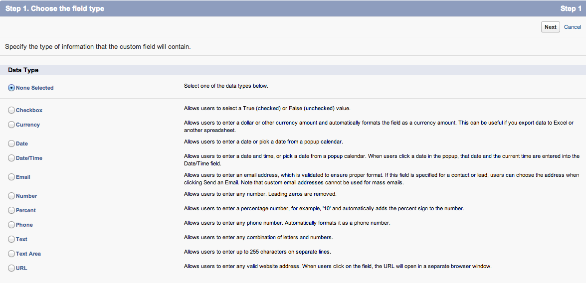 Salesforce custom settings